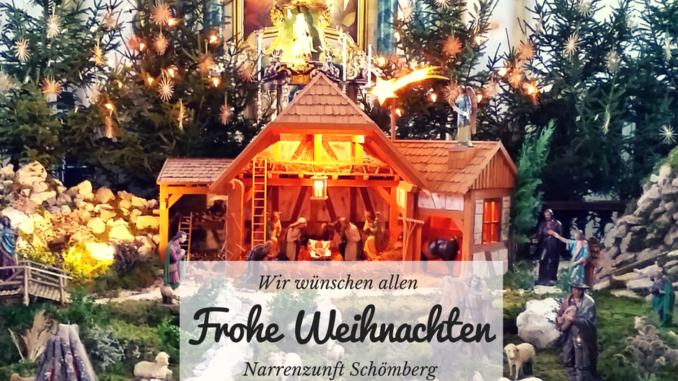 Frohe Weihnachten 2016 wünscht die Narrenzunft Schömberg