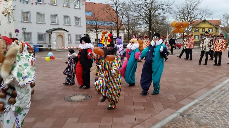 Maschgera als Bajass in Schömberg am Fasnetmedig